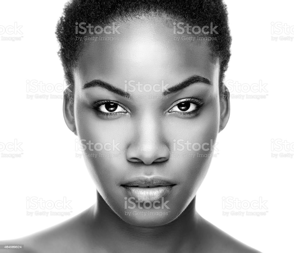 Face of an young black beauty stock photo
