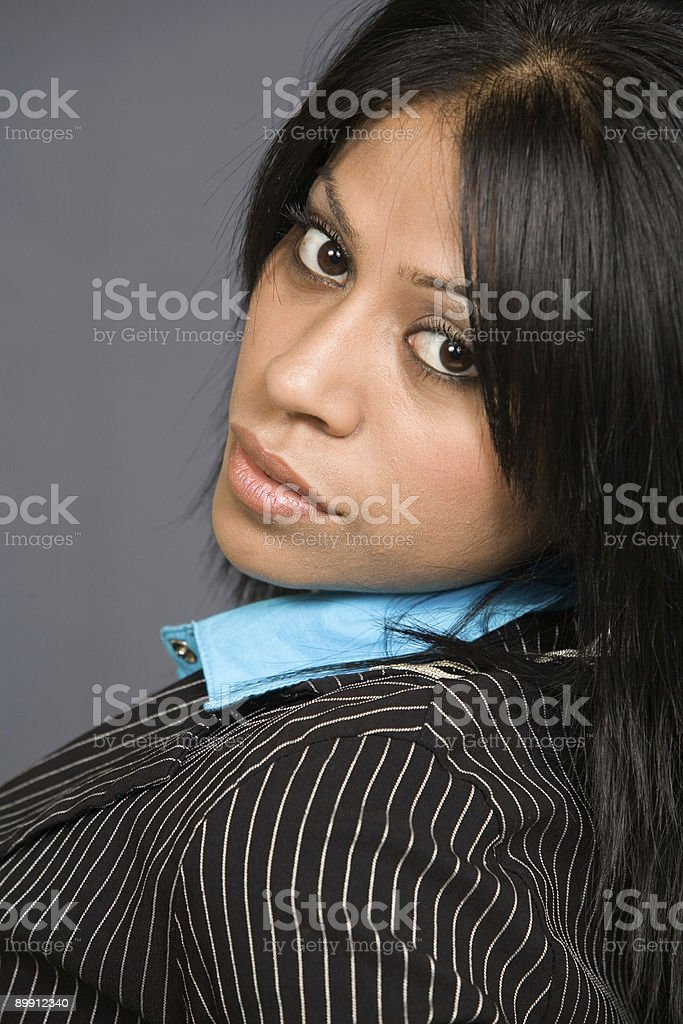 Face of attractive brunette royalty-free stock photo