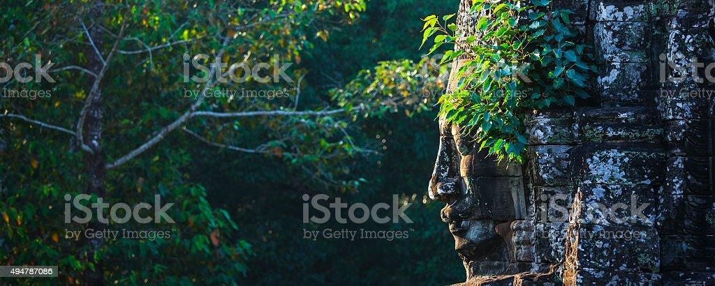 Face of Bayon temple, Angkor, Cambodia stock photo