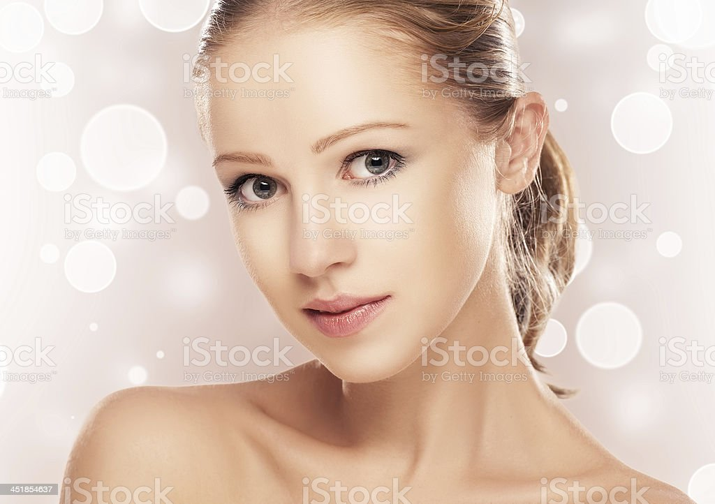face of beautiful woman royalty-free stock photo