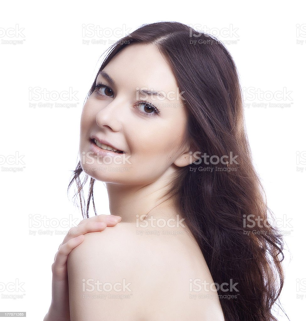 face of beautyl woman with make-up royalty-free stock photo