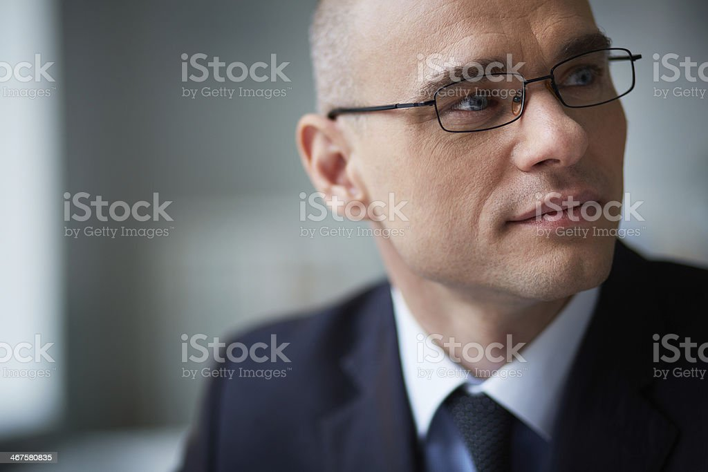 Face of businessman stock photo