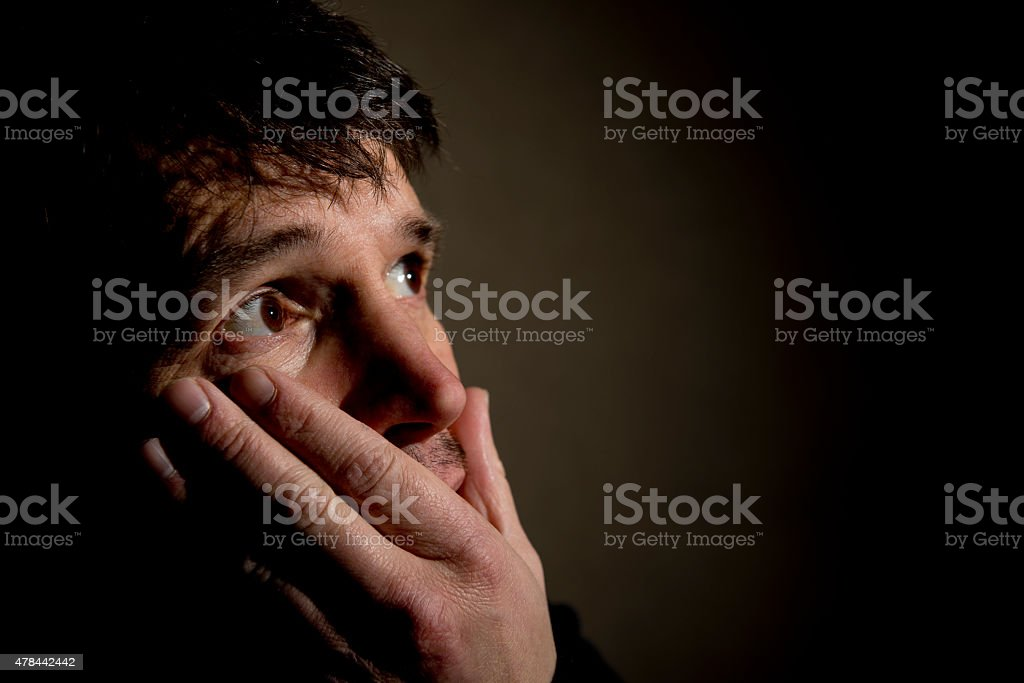 Face Of Fear stock photo