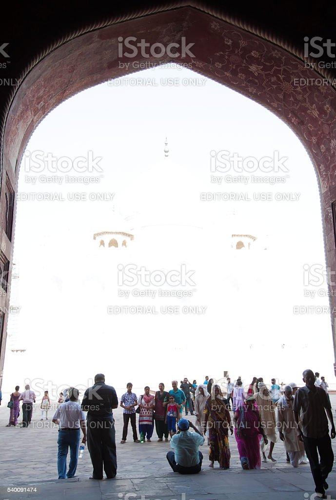 Face of god inTaj Mahal stock photo