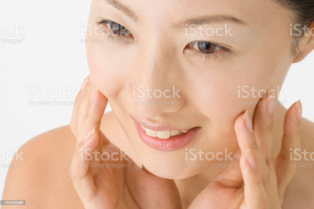 Face of Japanese woman royalty-free stock photo