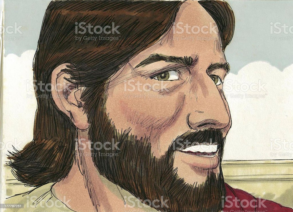 Face of Jesus stock photo