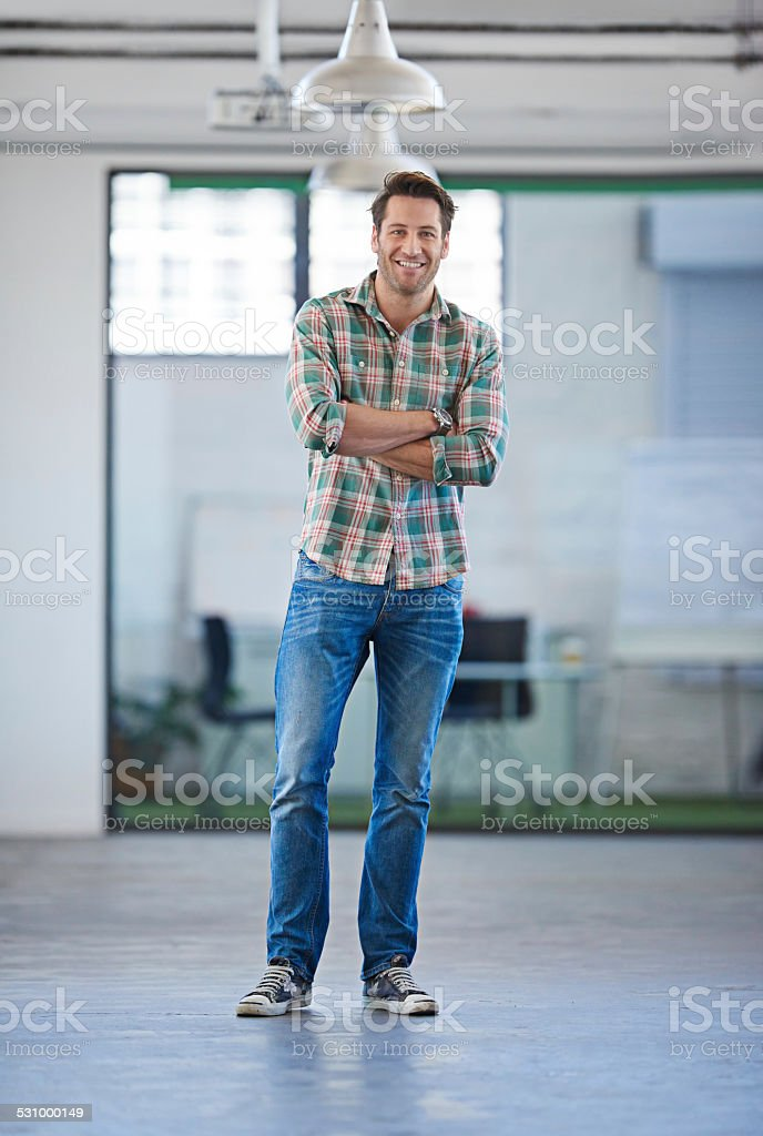 Face of modern leadership stock photo