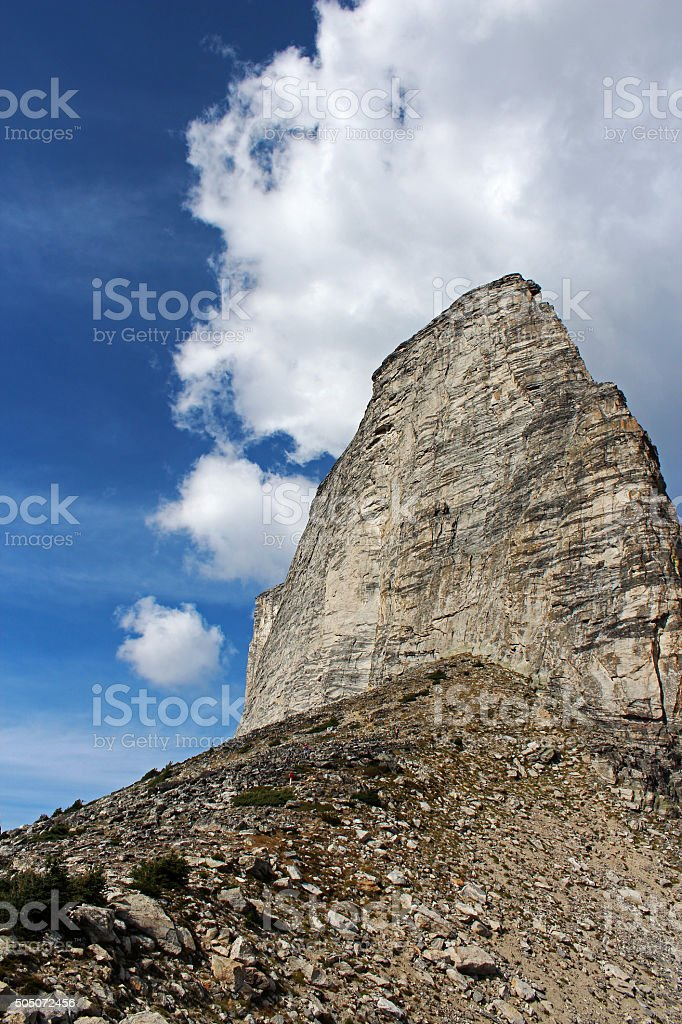 Face of Mount Gimli stock photo