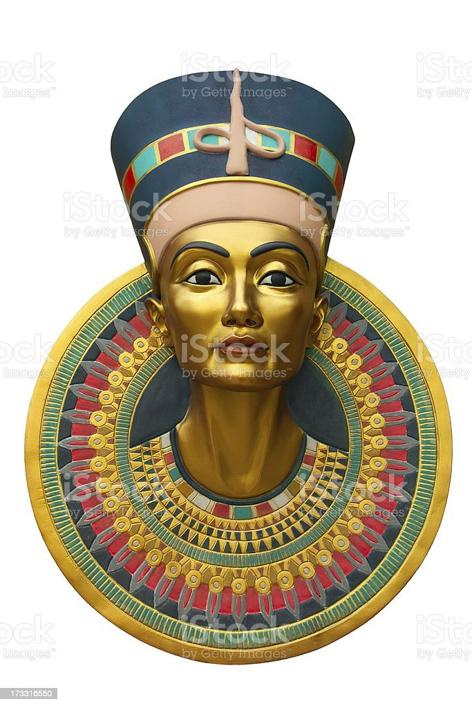 Face of Nefertiti royalty-free stock photo