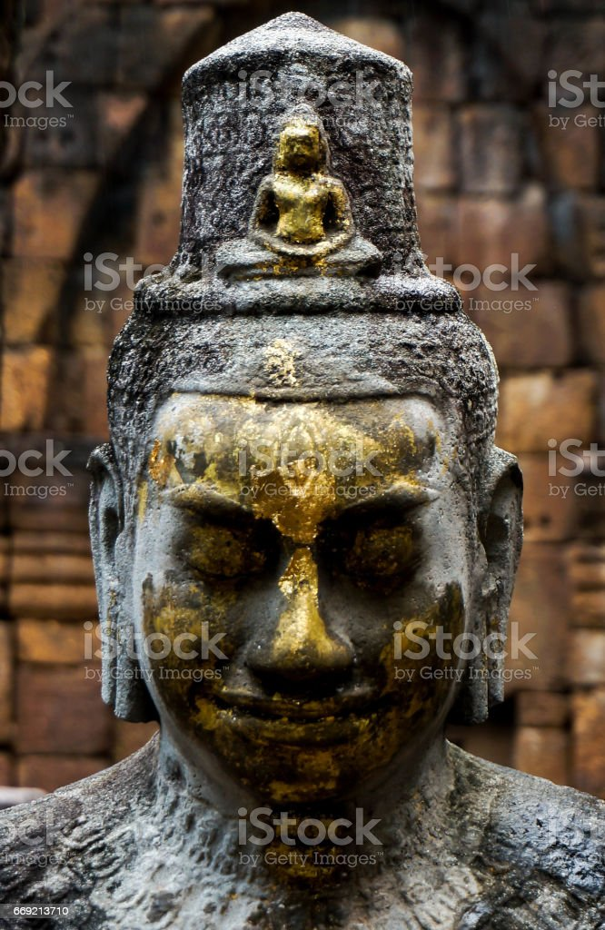 Face of Shiva sculpture stock photo