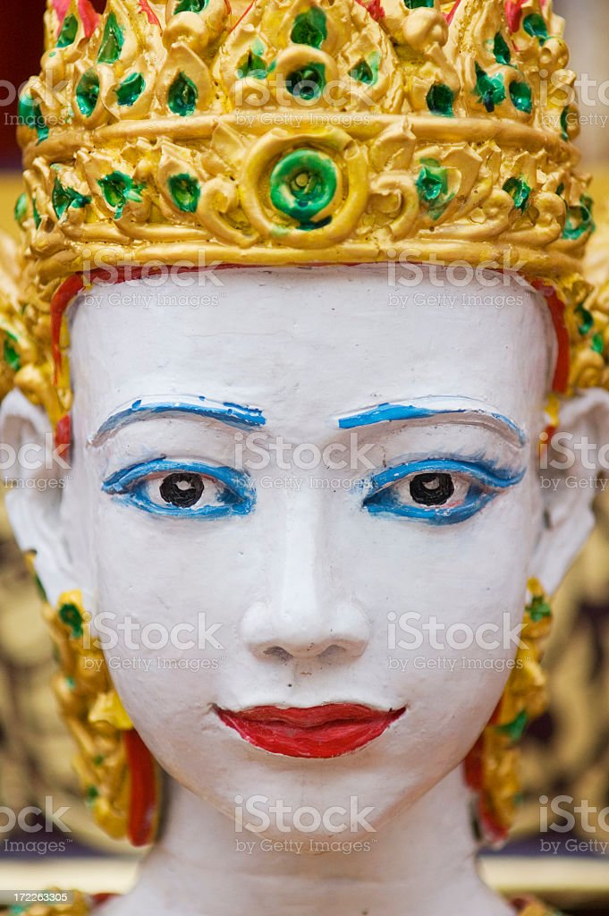 Face of Thai Sculpture royalty-free stock photo