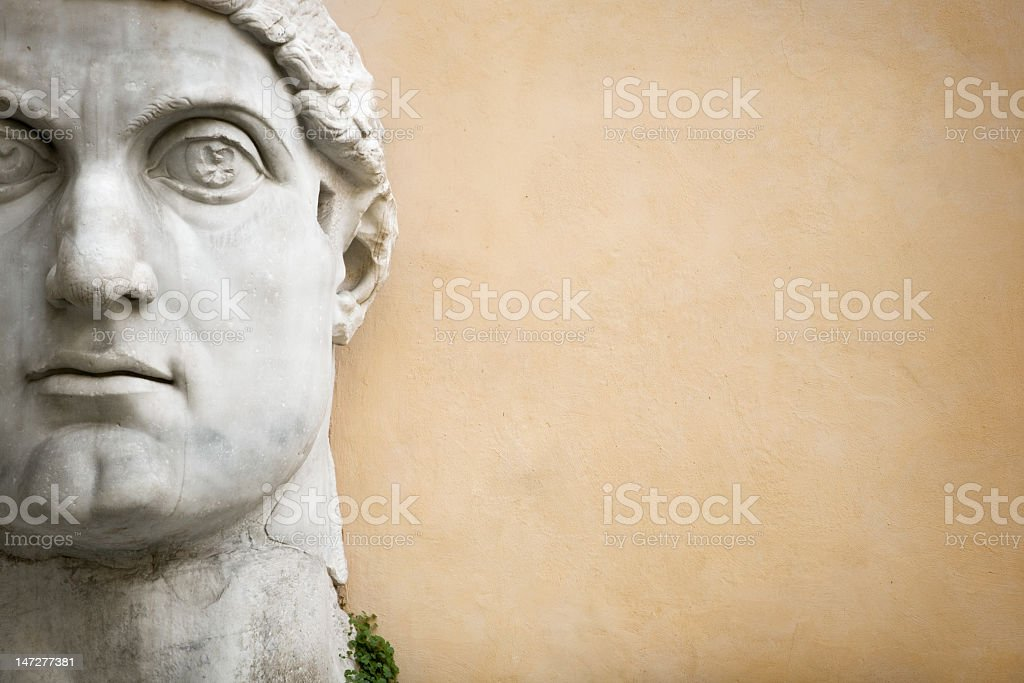 Face of the Emperor Constantine royalty-free stock photo