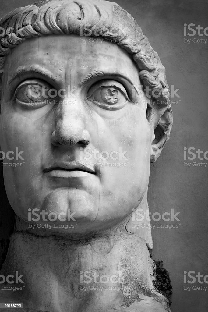 Face of the Emperor Constantine stock photo