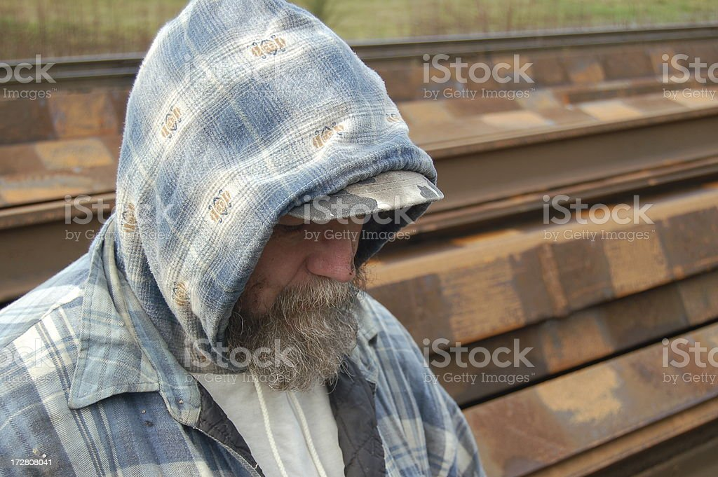 Face of the Homeless royalty-free stock photo