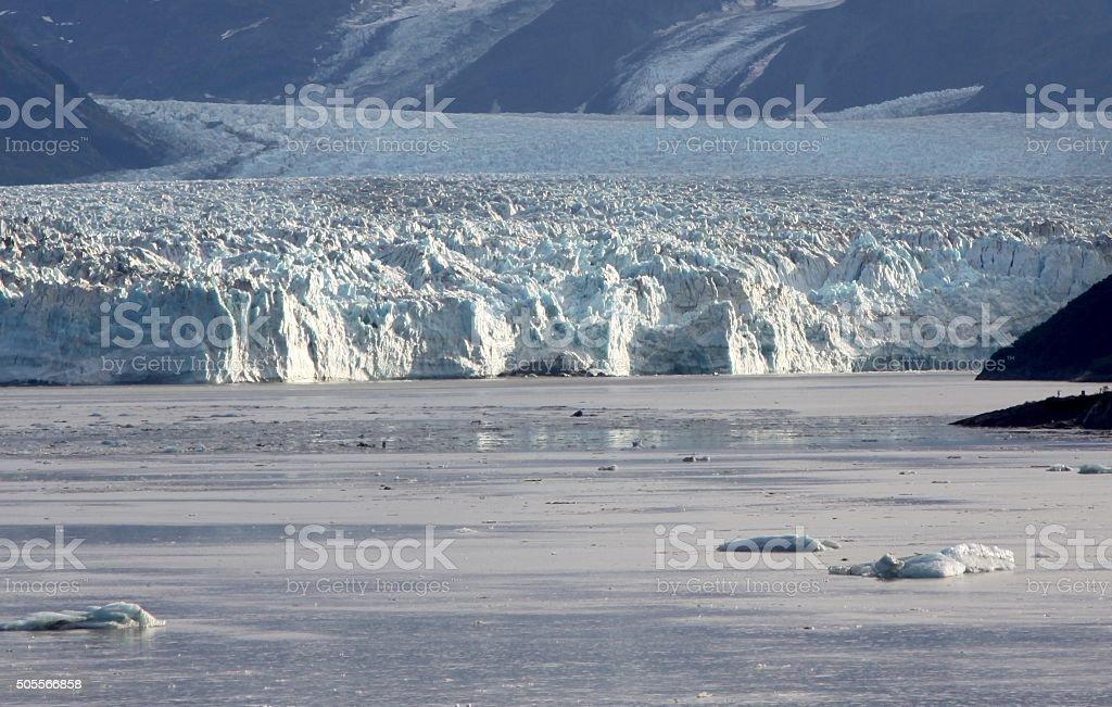 Face Of The Hubbard Glacier stock photo
