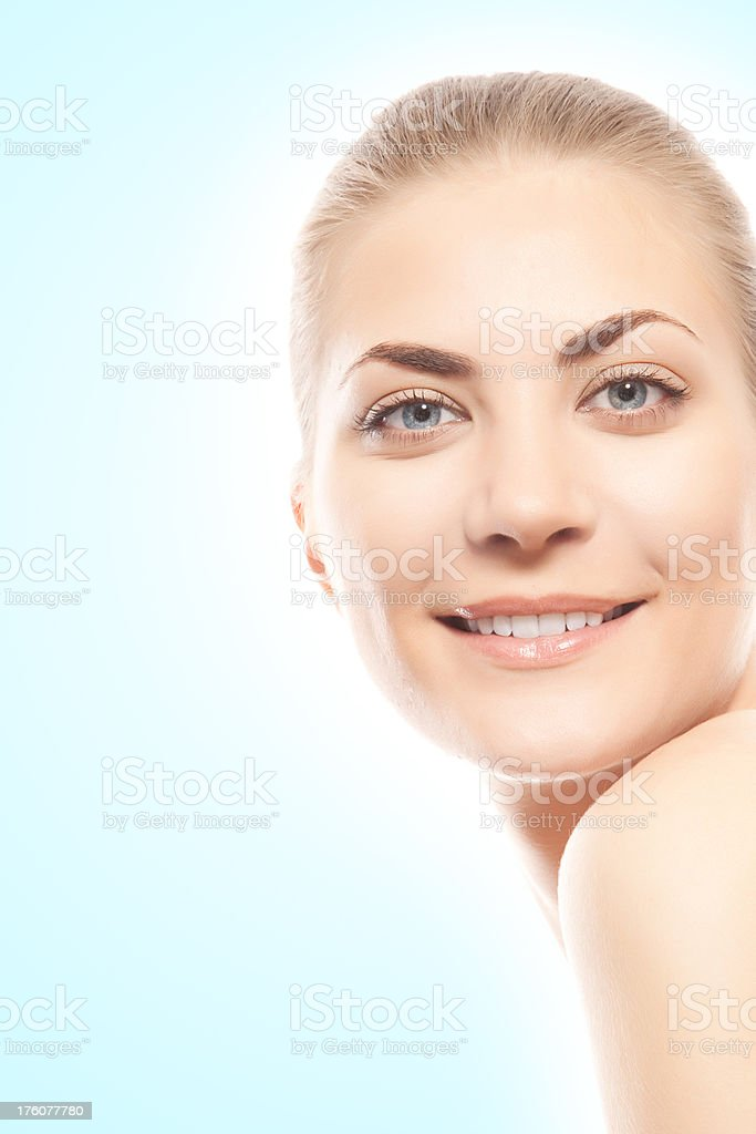 face of woman royalty-free stock photo