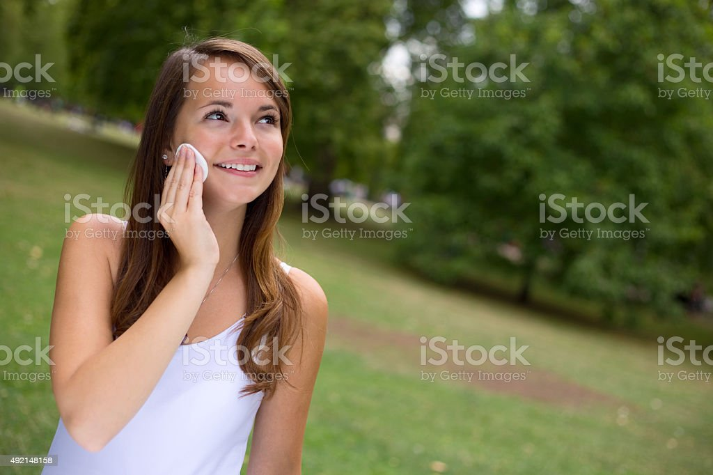 face pads royalty-free stock photo