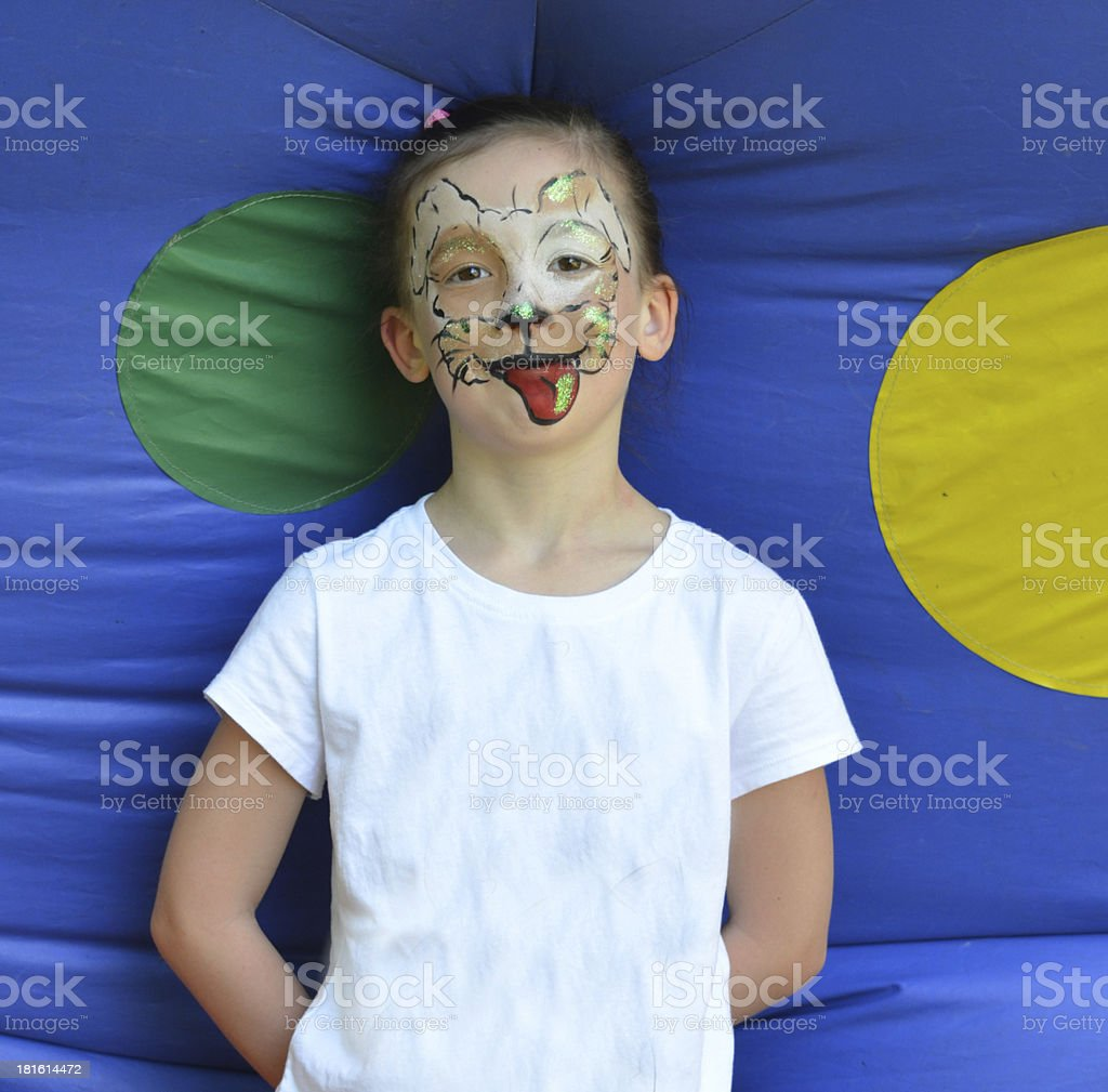 Face Paint, Kids, Child Painting Makeup, Celebration, Cat, royalty-free stock photo