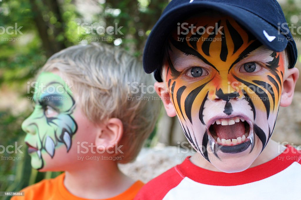 Face Painted Children royalty-free stock photo