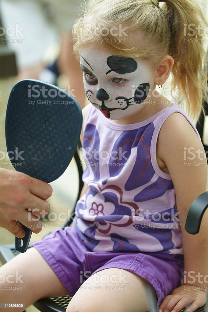 Face Painted Girl royalty-free stock photo