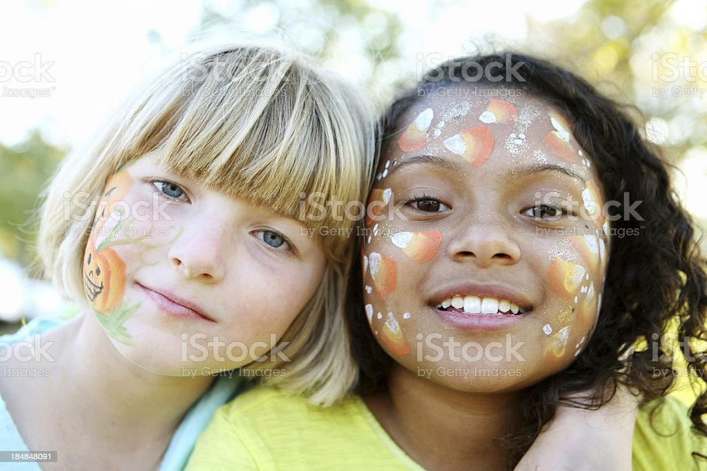 Face painted kids royalty-free stock photo