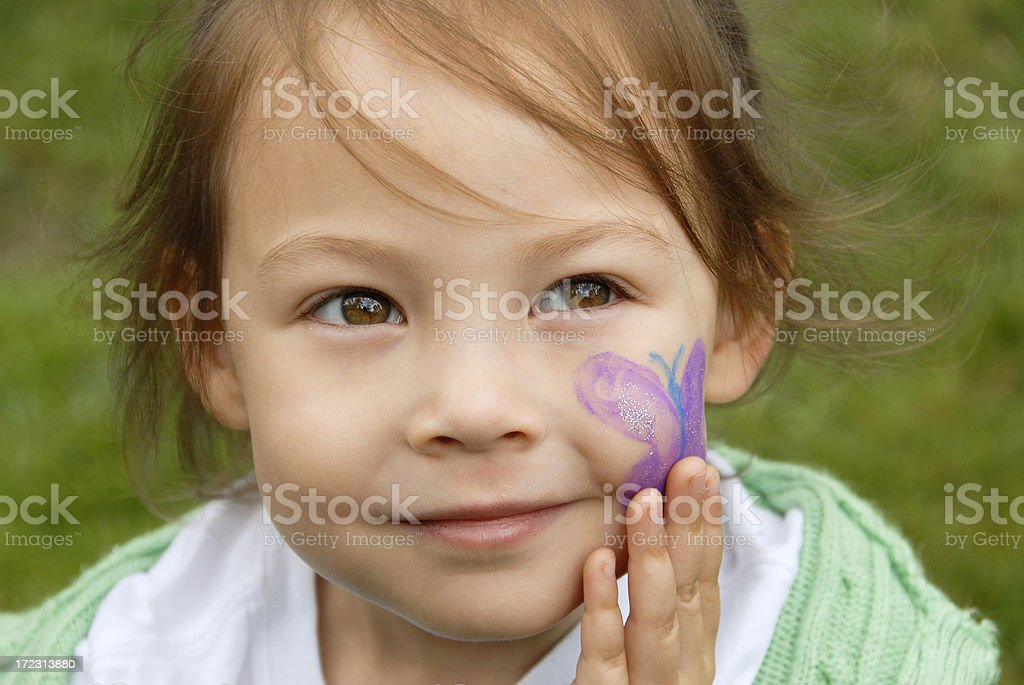 Face Painted royalty-free stock photo