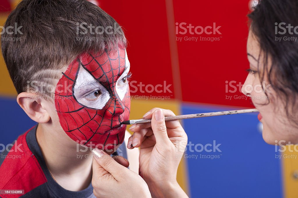 Face painted stock photo