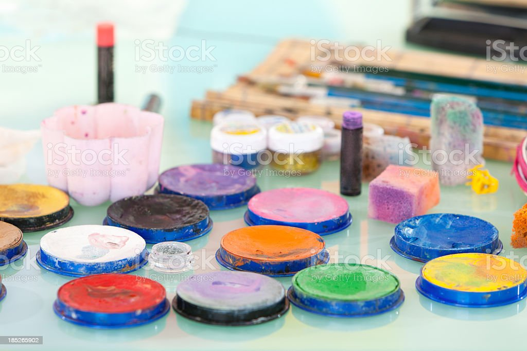 Face painting accesories stock photo