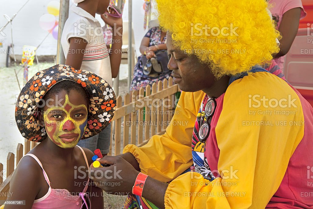 Face painting at Ficksburg Cherry Festival stock photo