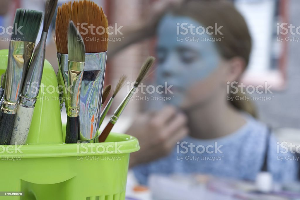 Face Painting Brushes royalty-free stock photo