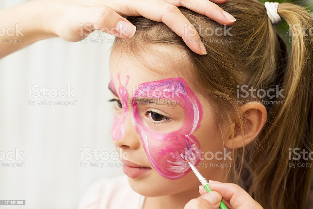 Face painting fun royalty-free stock photo
