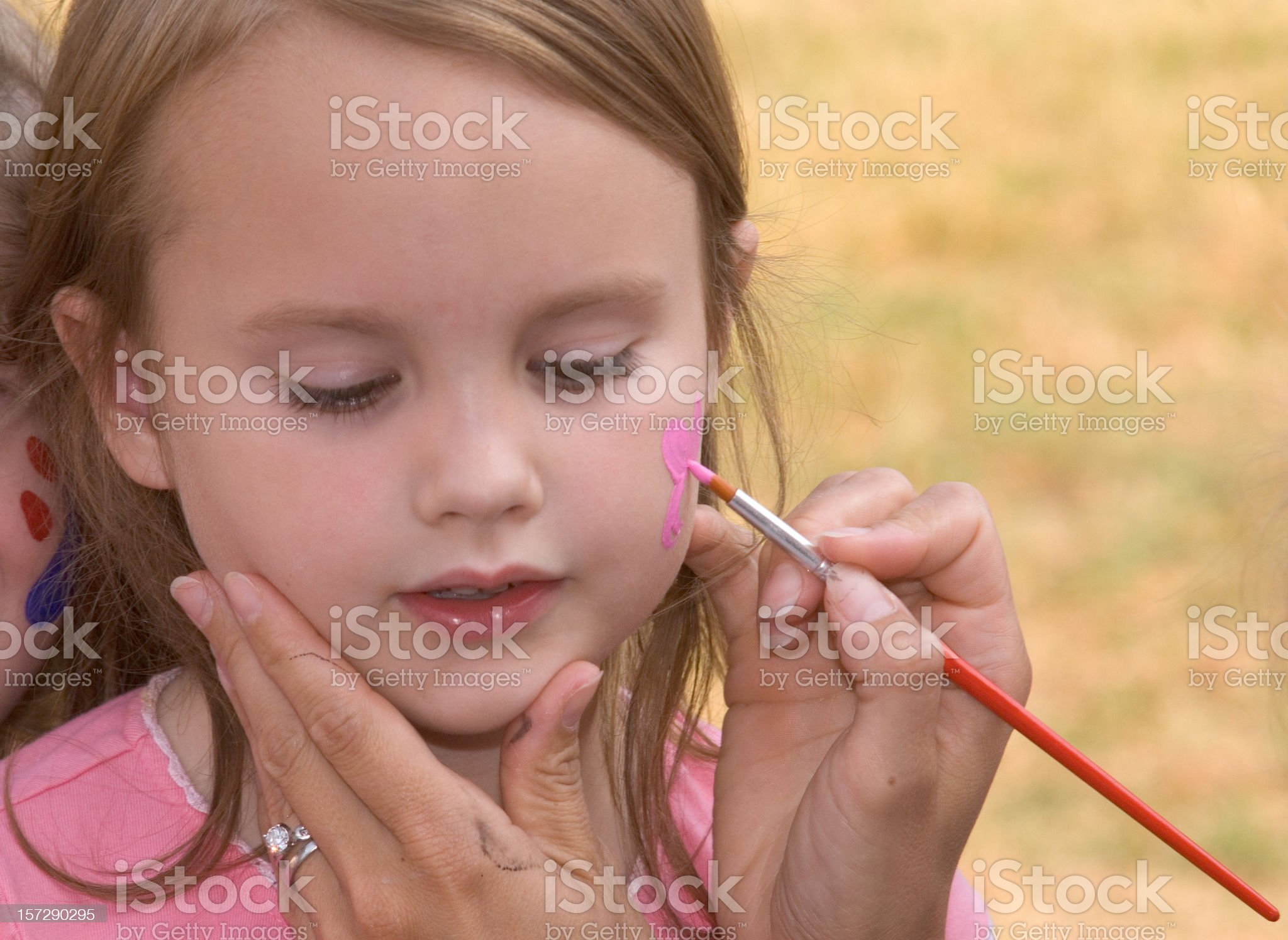 Face Painting Girl II royalty-free stock photo