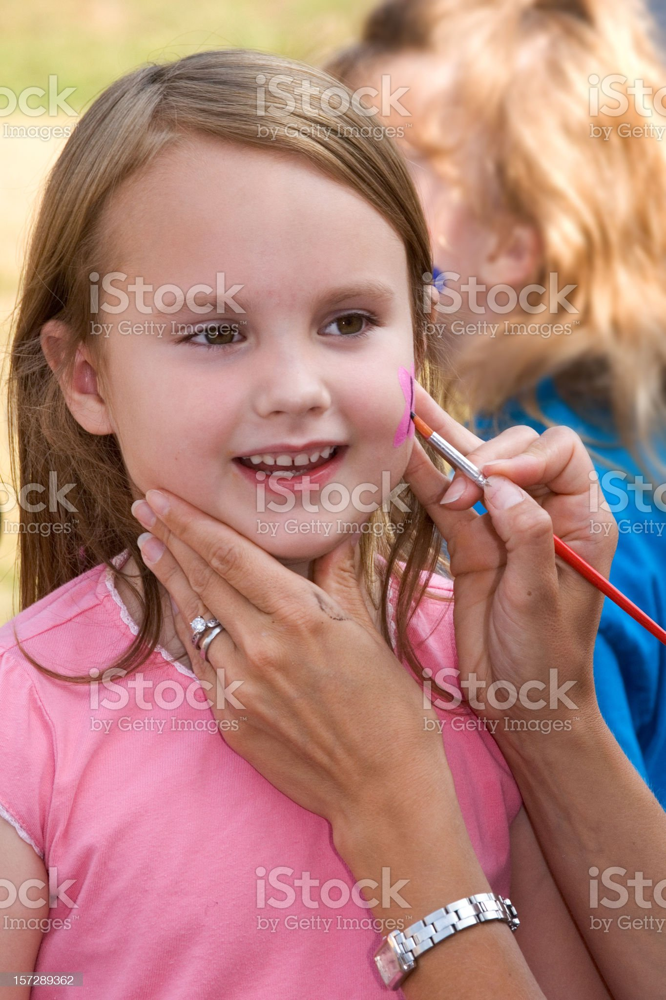 Face Painting Girl royalty-free stock photo