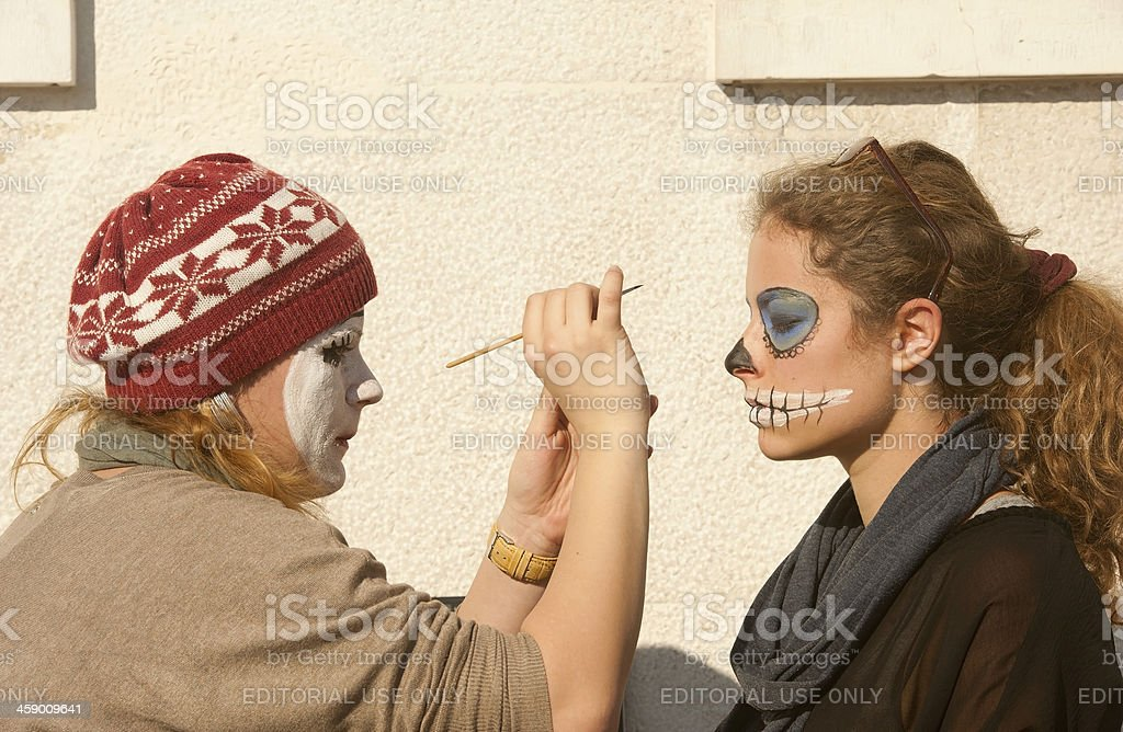Face Painting in Venezia royalty-free stock photo