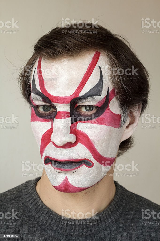 Face painting kabuki stock photo