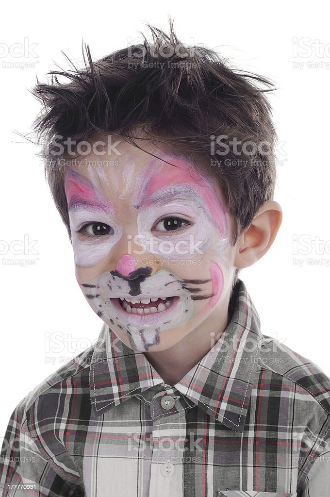 Face painting of rabbit stock photo