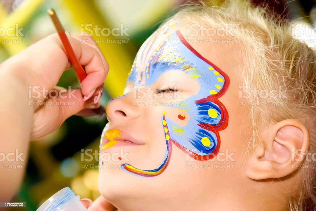 Face Painting stock photo