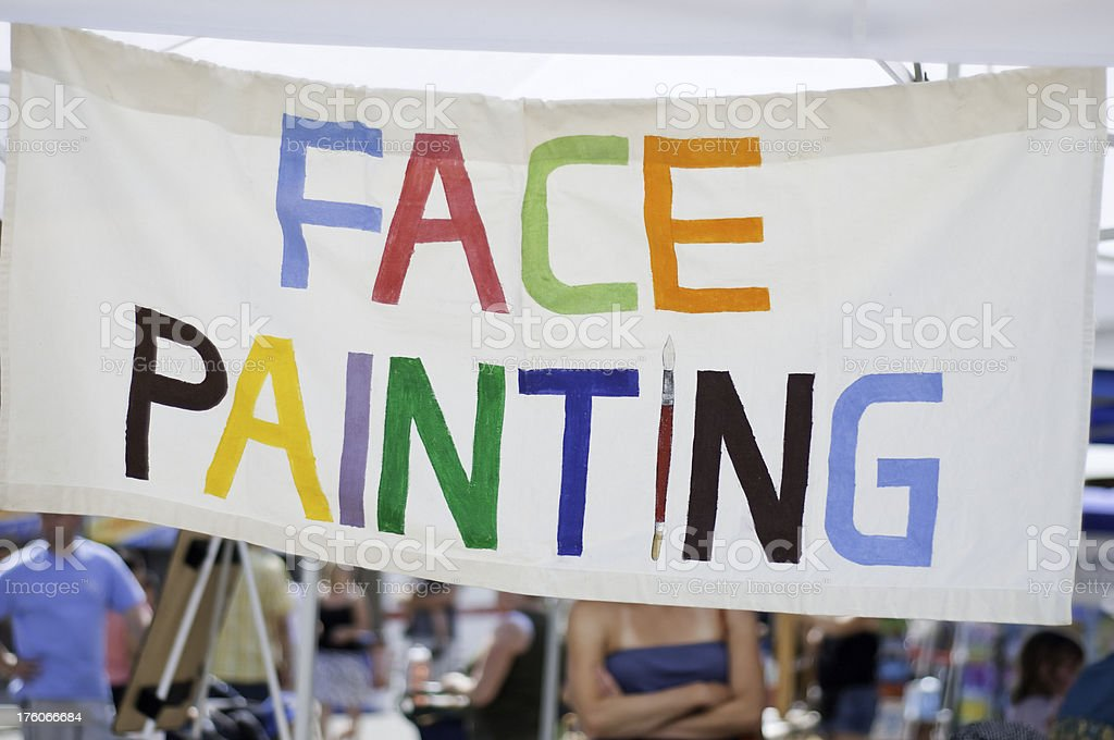 Face Painting Sign stock photo