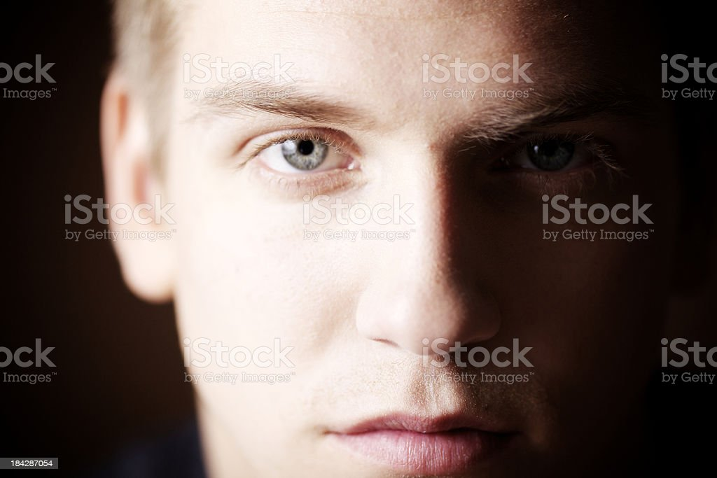 Face paying attention royalty-free stock photo