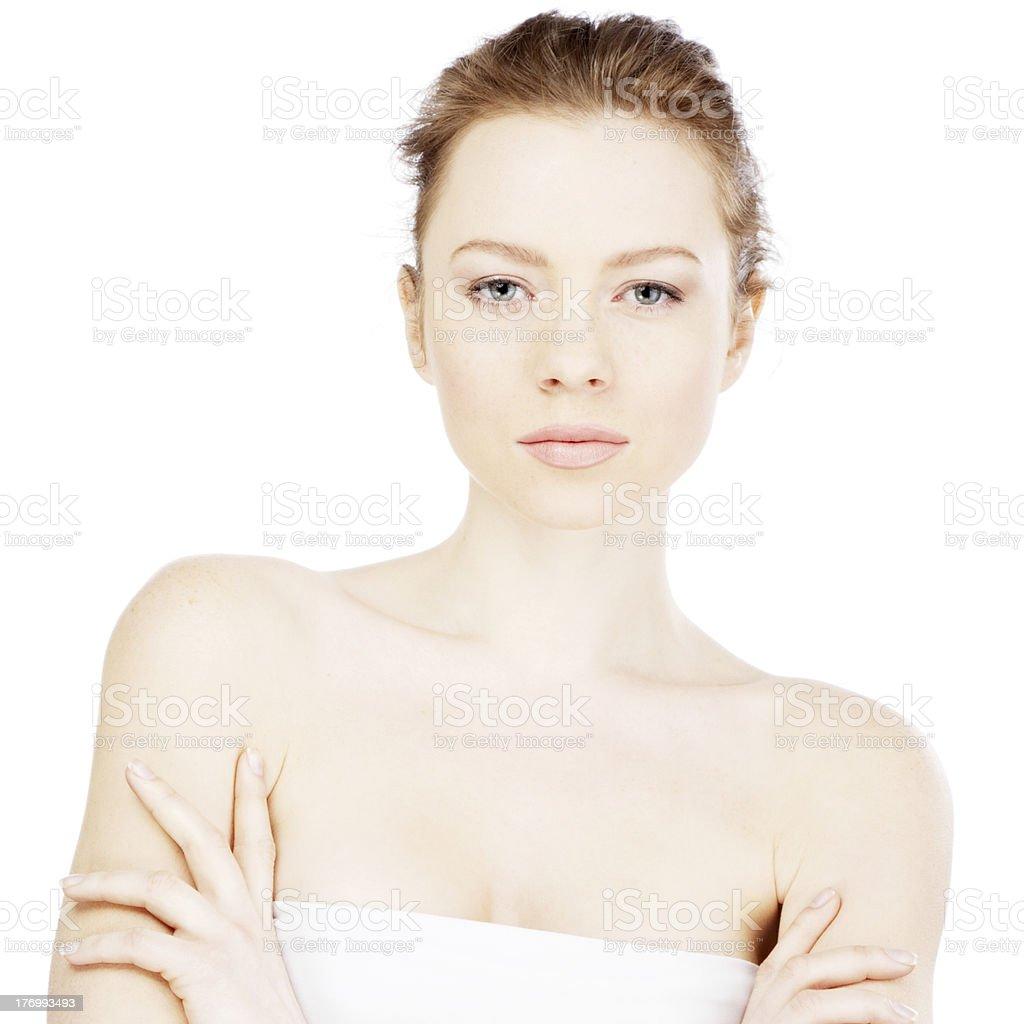 Face portrait of a beautiful model stock photo