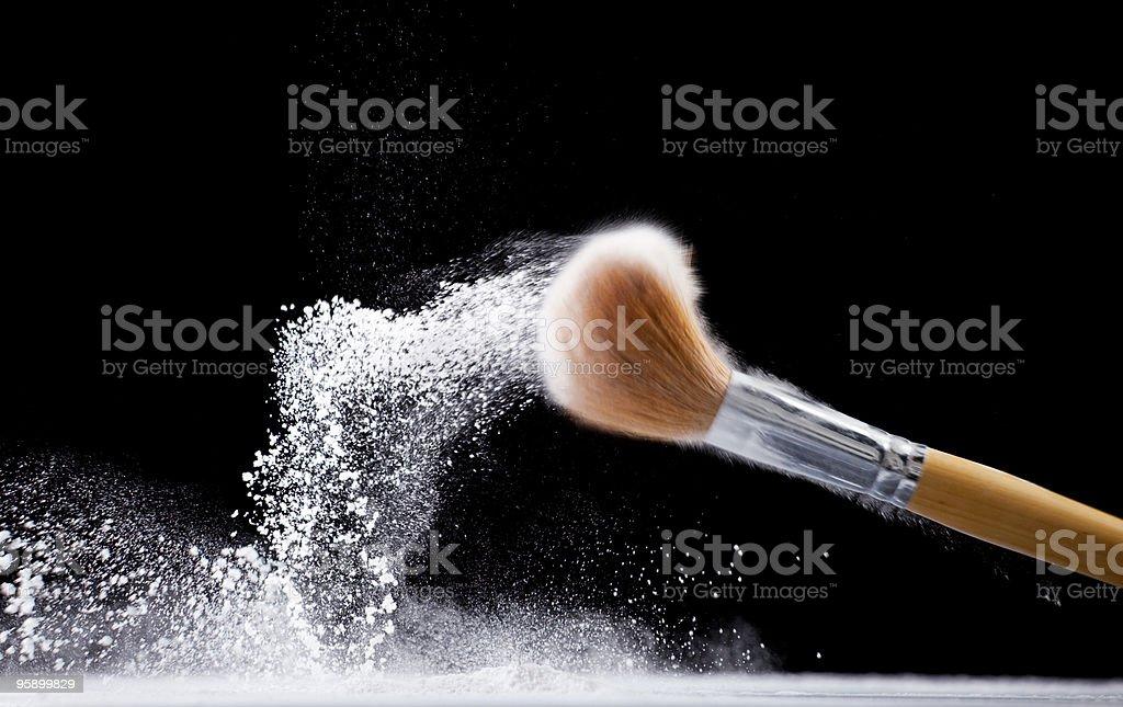 Face powder brush royalty-free stock photo