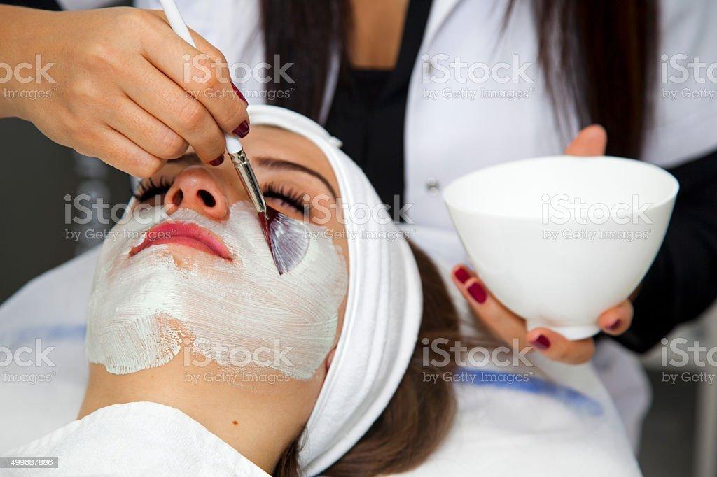 Face Skin Care stock photo