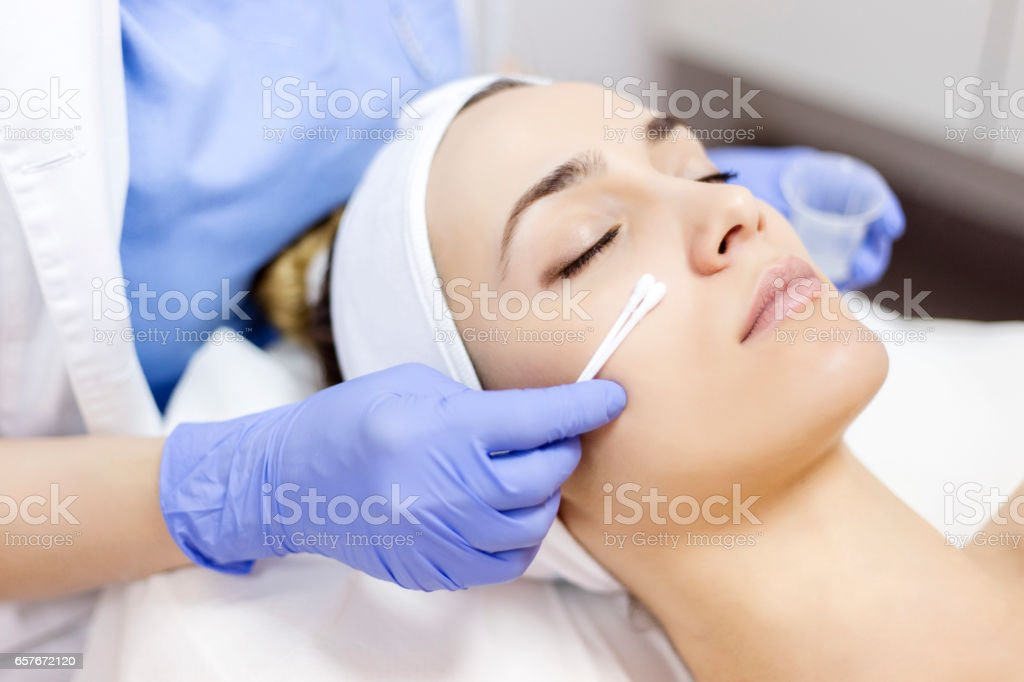 Face Skin Cleaning stock photo