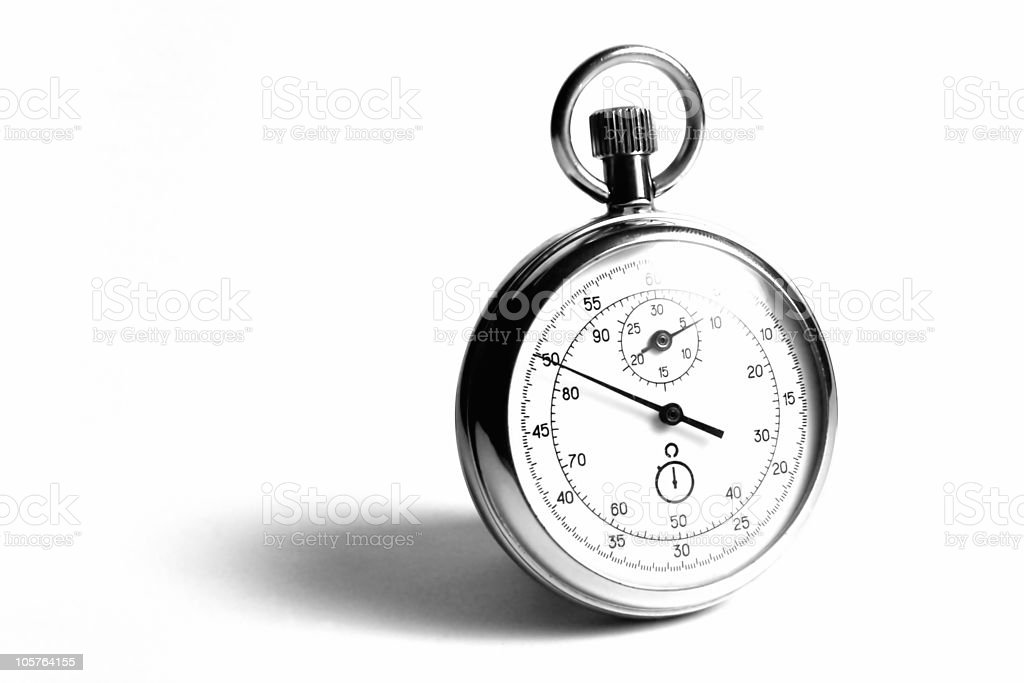 Face the time (bw version) royalty-free stock photo