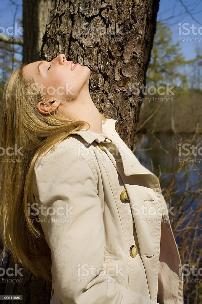 Face to the Sun royalty-free stock photo