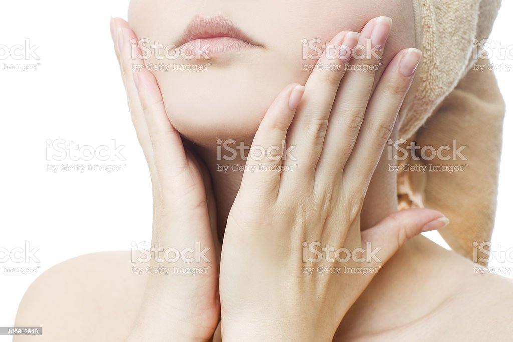 Face treatment royalty-free stock photo