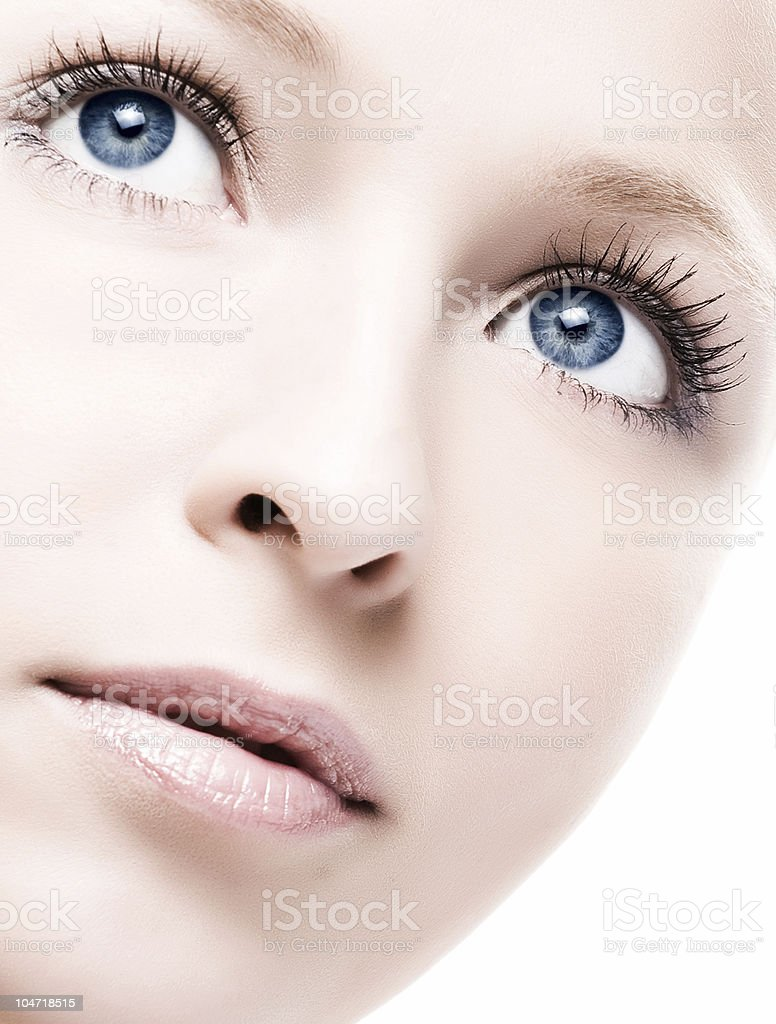 face with flower royalty-free stock photo