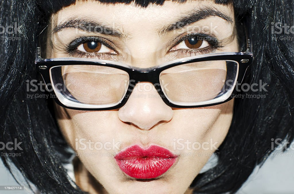 Face with glasses. royalty-free stock photo