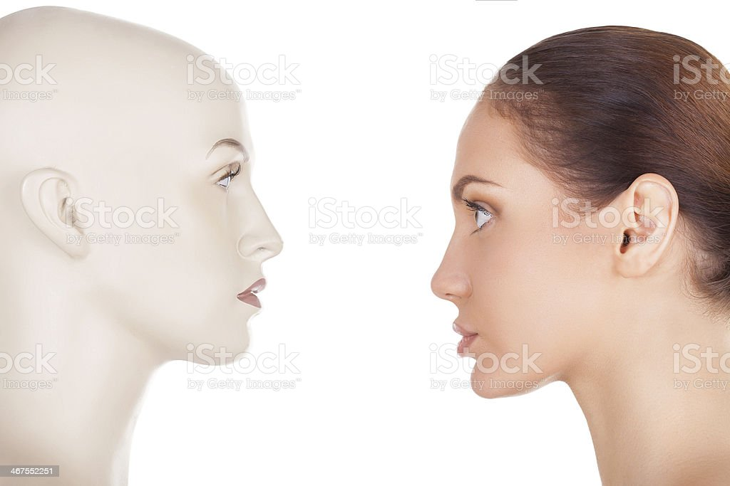 Face your problem. stock photo