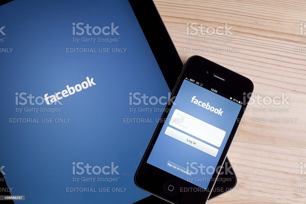 Facebook App royalty-free stock photo